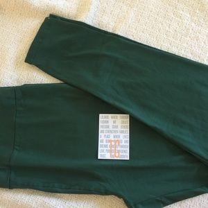 NWT LuLaRoe Solid Green TC Leggings